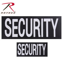ROTHCO Patch Imprimé Security Velcro (2) Un grand et un petit