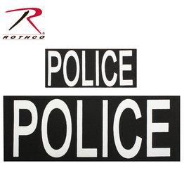 ROTHCO PATCH IMPRIMÉ POLICE VELCRO (2) UN GRAND ET UN PETIT