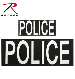 ROTHCO PRINTED PATCH POLICE VELCRO (2) A BIG AND SMALL