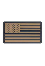 ROTHCO Patch U.S Flag PVC Kaki/Black