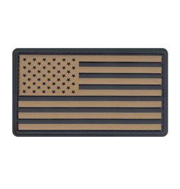 ROTHCO Patch U.S Flag PVC Kaki/Black