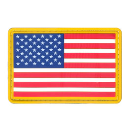 ROTHCO Rothco PVC US Flag Patch - Hook Back