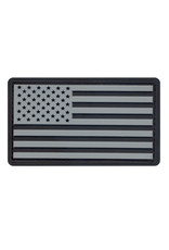 ROTHCO Patch PVC Velcro U.S Flag Black/Silver