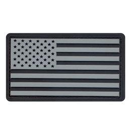 ROTHCO Patch PVC Velcro U.S Flag Black/Silver