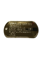 MILCOT Dog Tag Text Embossed 2 X Plate