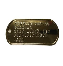 MILCOT Dog Tag Texte Seulement Embossé  Pour 2 X Plaque