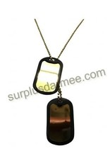 ROTHCO DOG TAG GOLD IDENTIFICATION PLAQUE STYLE MILITARY U.S