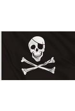 DRAPEAU IMPORT Drapeau Pirate Flag 3X5 (Noir Blanc)
