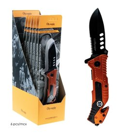 OLYMPIA OLYMPIA - FOLDING KNIFE WITH EMERGENCY TOOLS, 8""