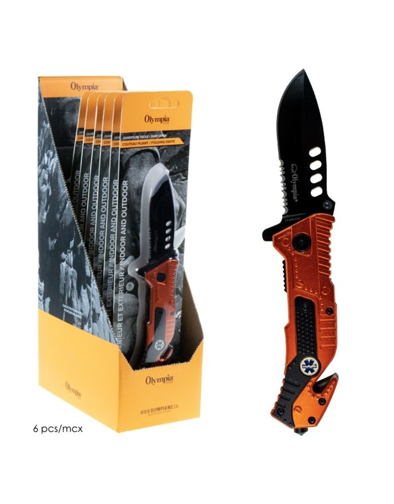 """OLYMPIA OLYMPIA - FOLDING KNIFE WITH EMERGENCY TOOLS, 8"""""""