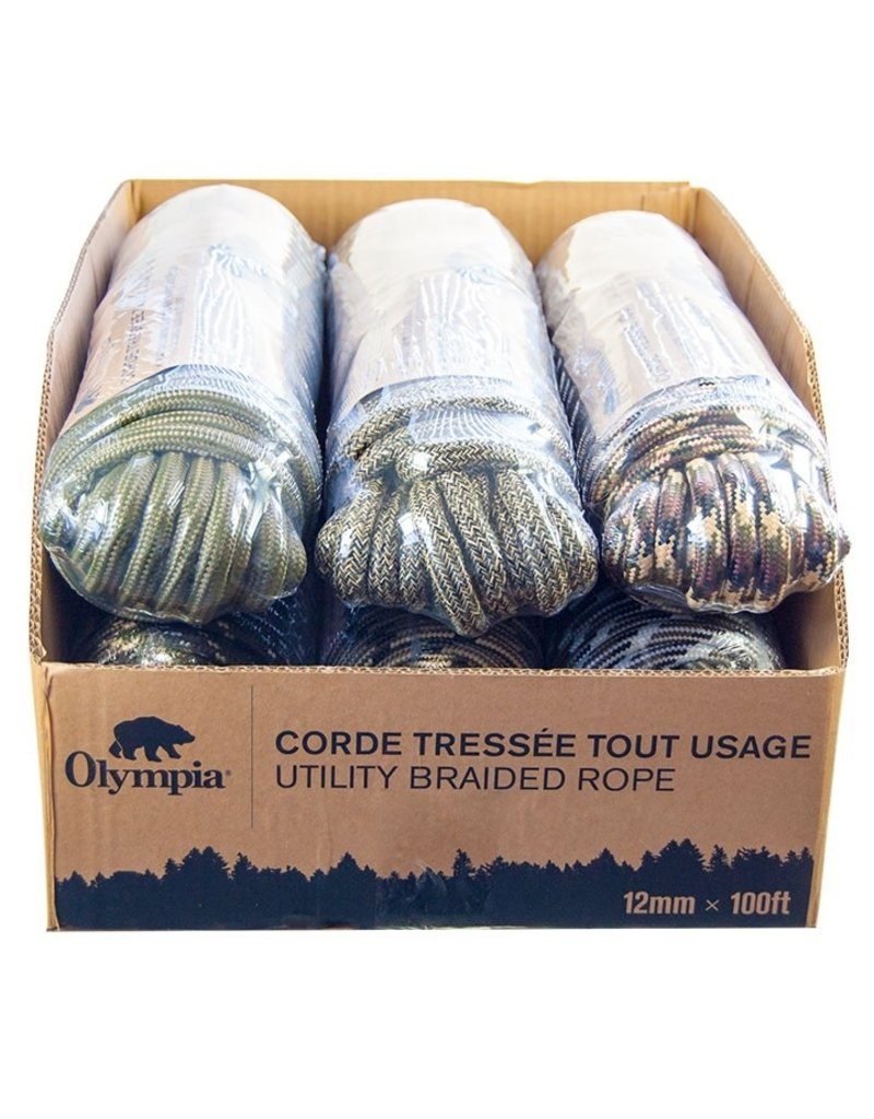 OLYMPIA Corde Multi Usages 12mm 100 Pieds 200lb Olympia