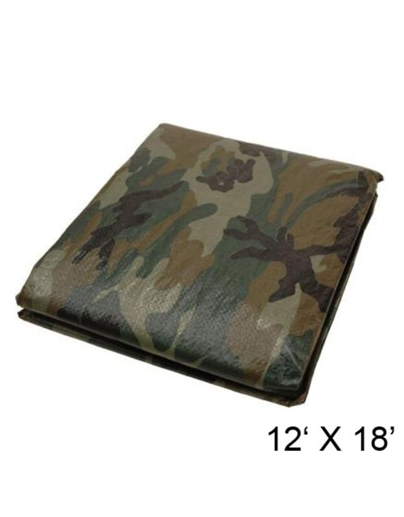 OLYMPIA CANVAS COVER 12X18 POLYETHYLENE CAMOUFLAGE OLYMPIA