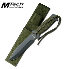 M-TECH Paracord Survival Blade Fixe Knife MTECH