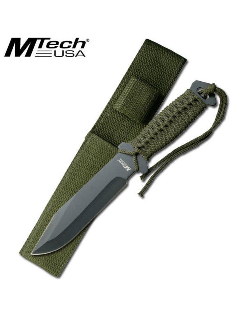 M-TECH Couteau a Lame Fixe Pleine Survie Paracorde MTECH