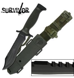 SURVIVOR Couteau a Lame Fixe Acier Innox Survivor HK-6001