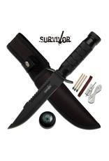 SURVIVOR Couteau de Survie Boussole-Ligne a Pêche-Allumettes-Survivor HK-695B