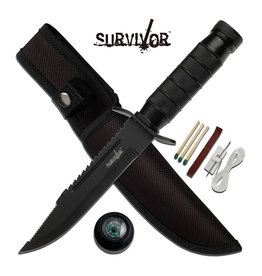 SURVIVOR Compass-Line Fishing Survival Knife-Matches-Survivor HK-695B