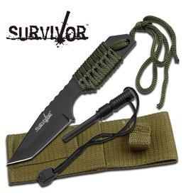 SURVIVOR Survival Knife With fire starter and Paracord Survivor HK-106320