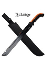 "ELK RIDGE Machette Dentelé 23.5"" Noir Orange ELK RIDGE"