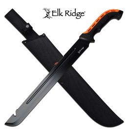 "ELK RIDGE 23.5 ""Black Orange Serrated Machete ELK RIDGE"