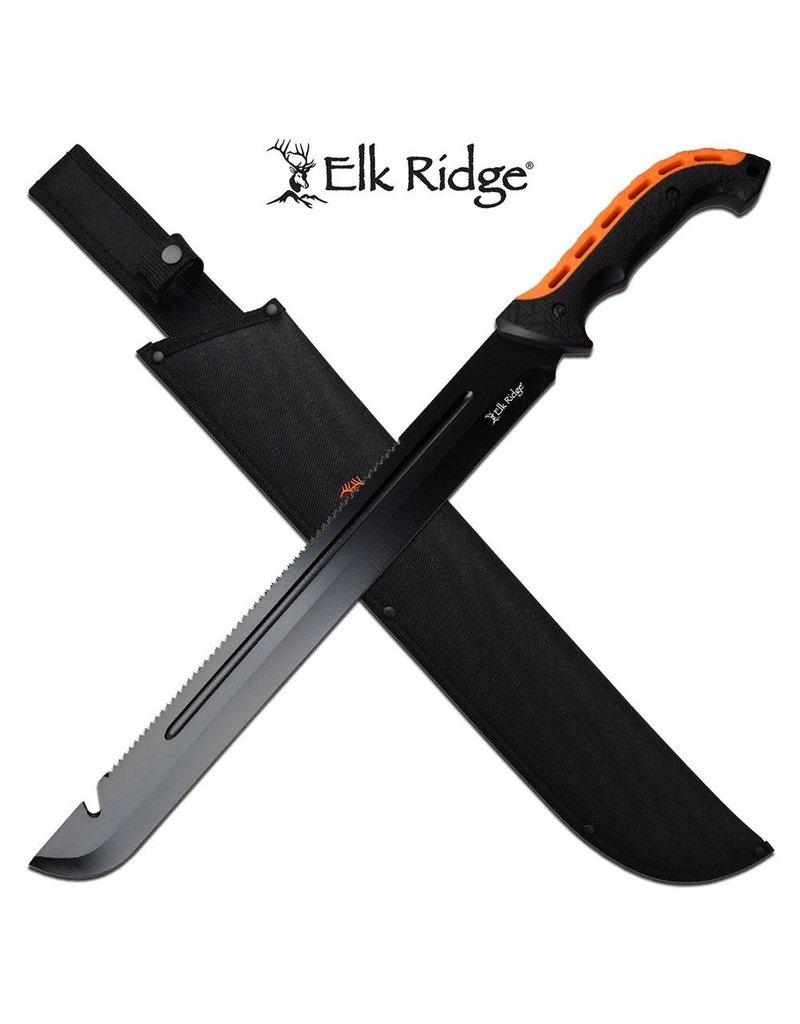 """ELK RIDGE Machette Dentelé 23.5"""" Noir Orange ELK RIDGE"""