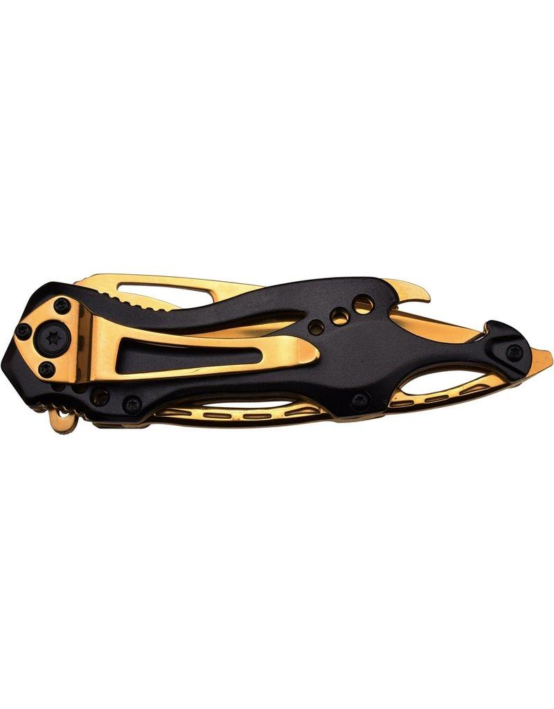 M-TECH Couteau De Poche Pliant Stainless Gold MTECH MT-705BG