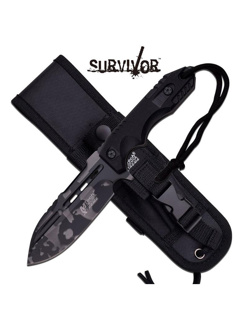 M-TECH Urban Camo Fixed Blade Knife MTECH Xtreme MX-8136UC