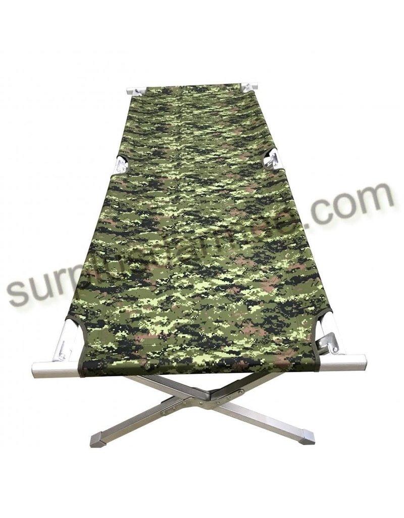 SGS Lit de Camp Pliant Style Militaire Camouflage Cadpat