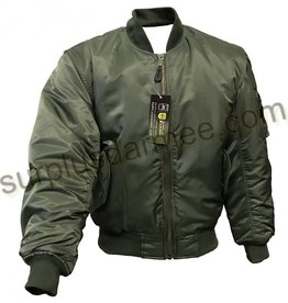 SGS Manteau Aviation Bomber MA-1 Olive Sage SGS