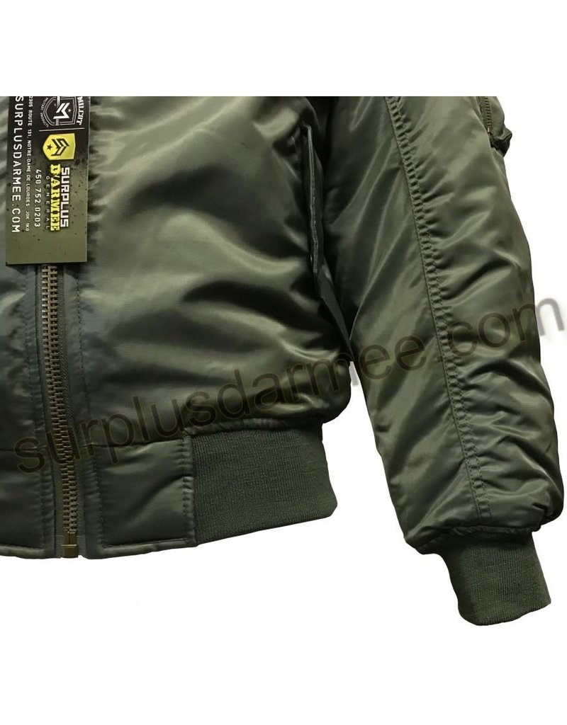 SGS Aviation Bomber Jacket MA-1 Olive Sage SGS