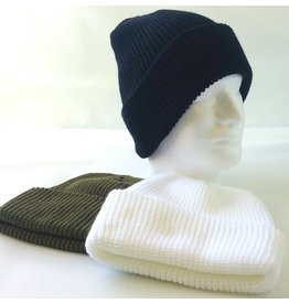 MILCOT 100% Acrylic Toque Black Olive or White