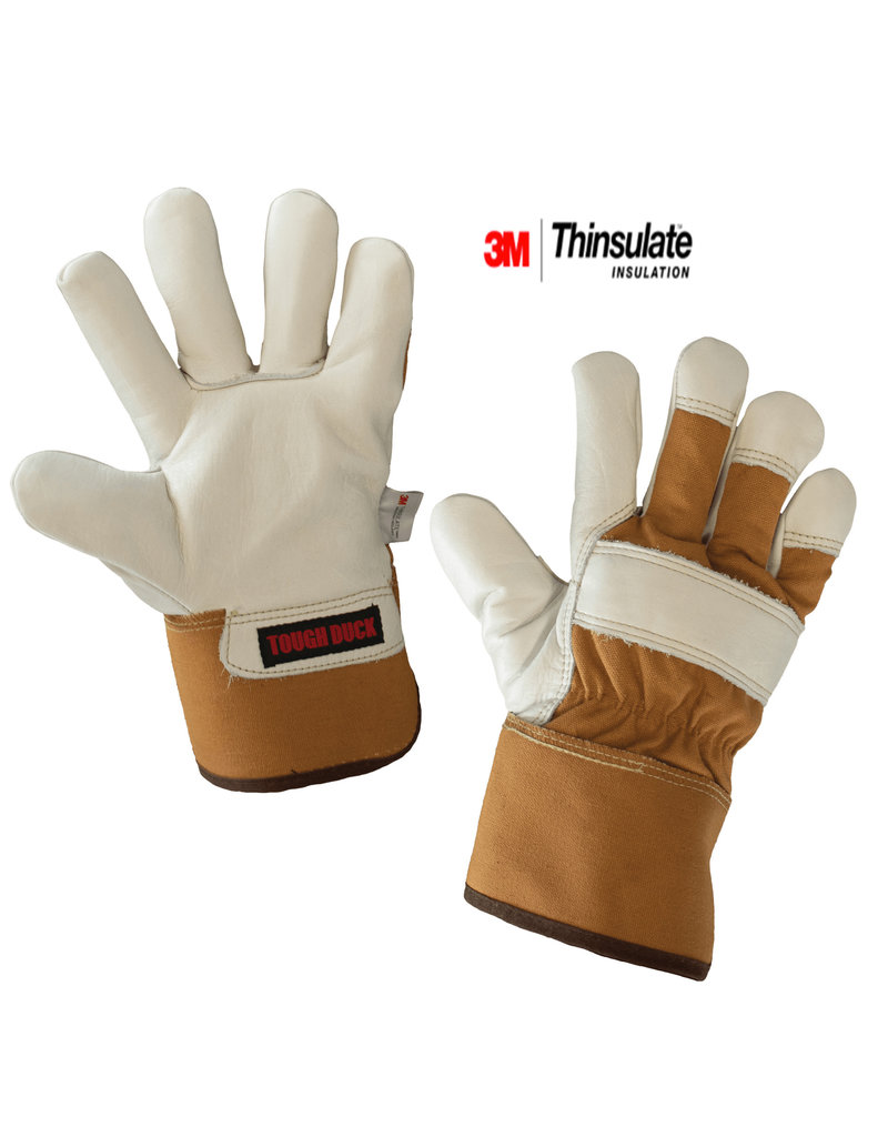 TOUGH-DUCK Tough Duck Waterproof Insulated Leather Work Glove