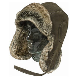 MISTY MOUNTAIN Chapeau Casque Aviateur B-29 Simili Cuir Fourrure Misty Mountain