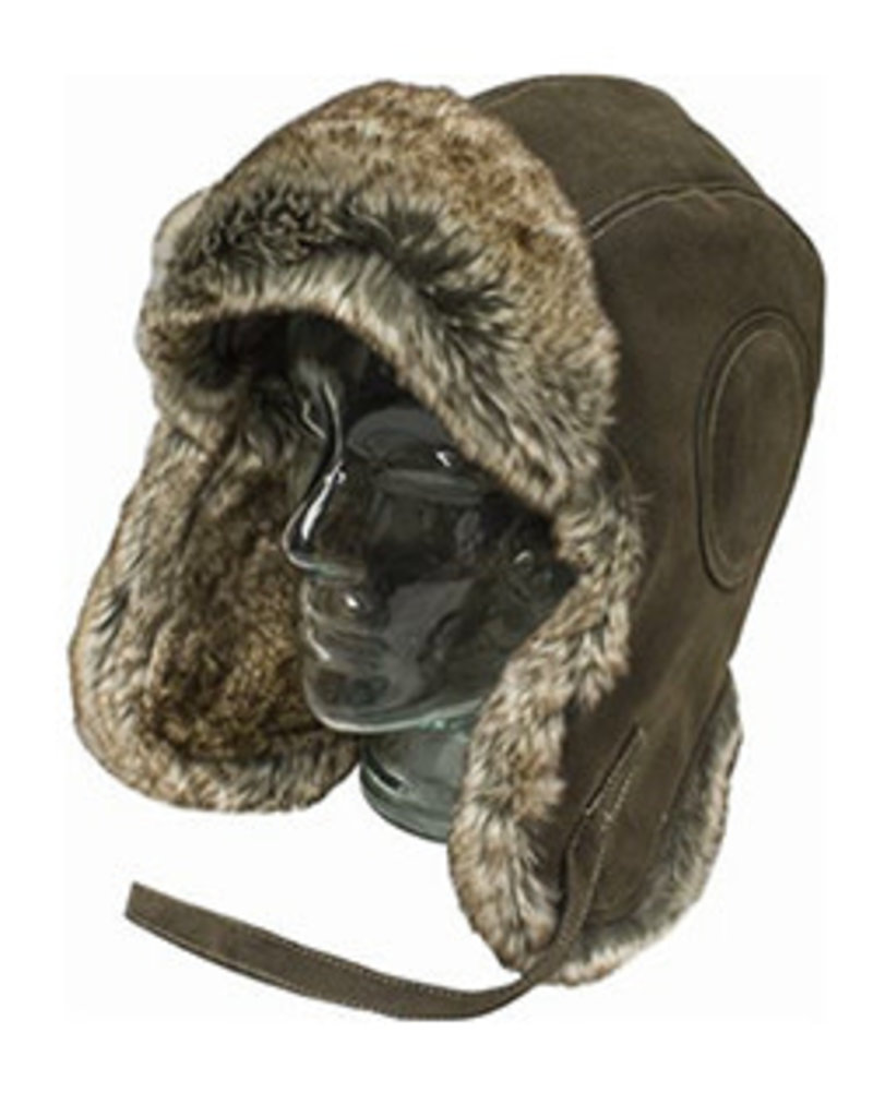 MISTY MOUNTAIN Aviator Hat B-29 Faux Leather Misty Mountain Fur
