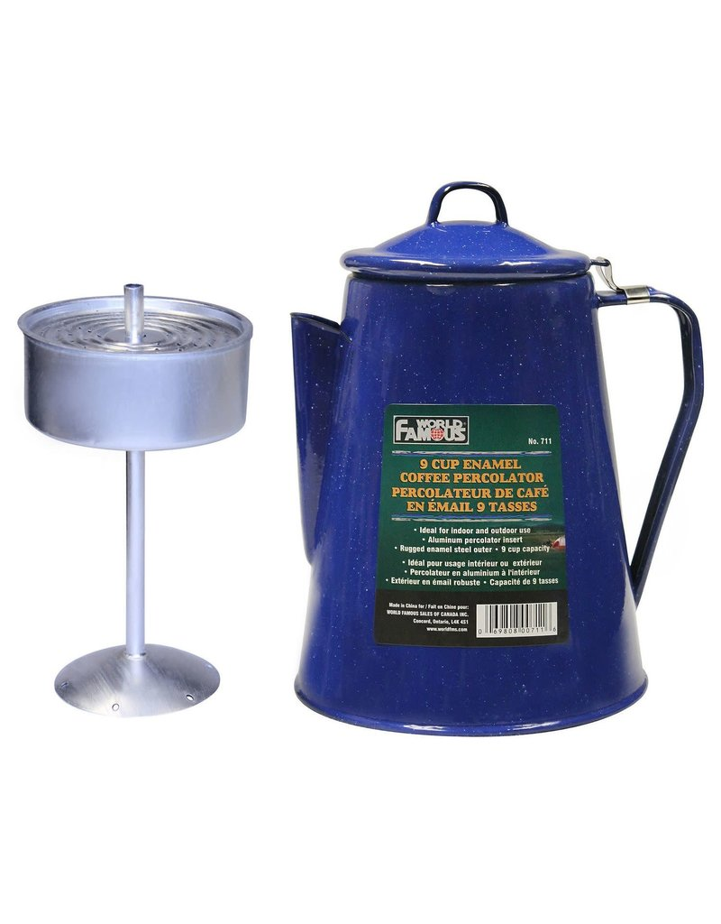 WORLD FAMOUS Perco Enamel Coffee Maker Camping World Famous