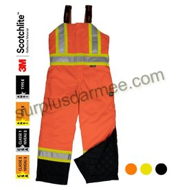 WORK KING 3M High Visibility Reflective Insulated Work Overalls Work King