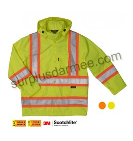 WORK KING Manteau Impermeable Réflectif Orange-vert lime Work King S372