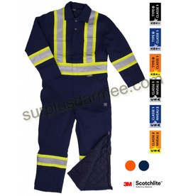 WORK KING Par-Dessus (Coverall) Doublé Work King Bande Réflectif 3M