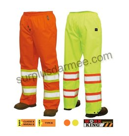 WORK KING Reflective Waterproof Pants Orange Work King