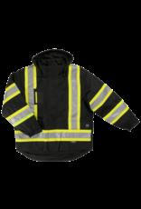 TOUGH-DUCK Fluorescent Reflective Work Winter Coat 5 in 1 Tough Duck
