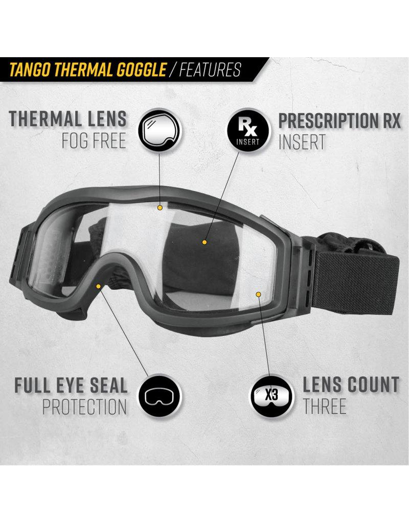 VALKEN Goggles Valken Tango Thermal Tan Certifié Airsoft
