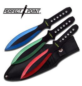 PERFECT-POINT Couteau de Lancer Set de 3 Couleurs Perfect Point