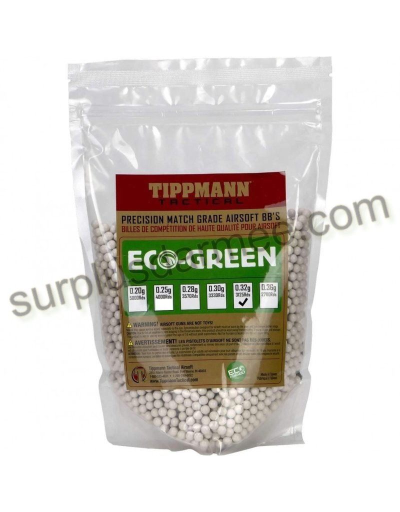 TIPPMANN Bag 3125 Airsoft Beads (BBs) Bio 0.32g 6mm Tippmann