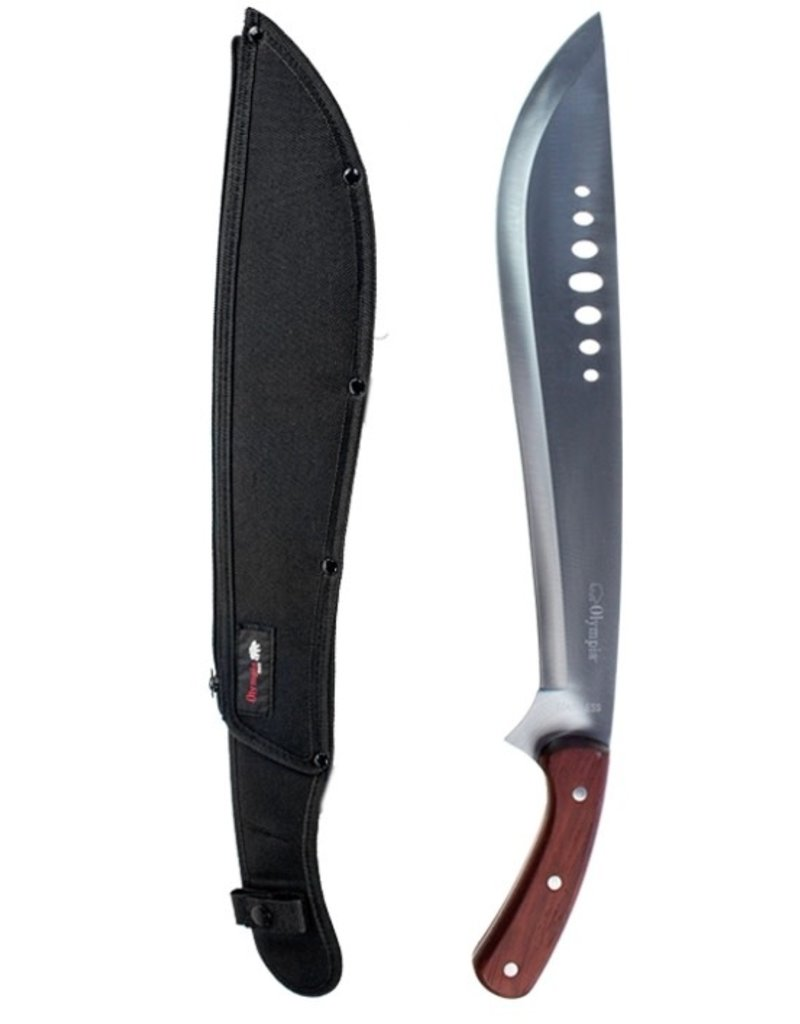 OLYMPIA Machete Olympia Stainless Wood With Case