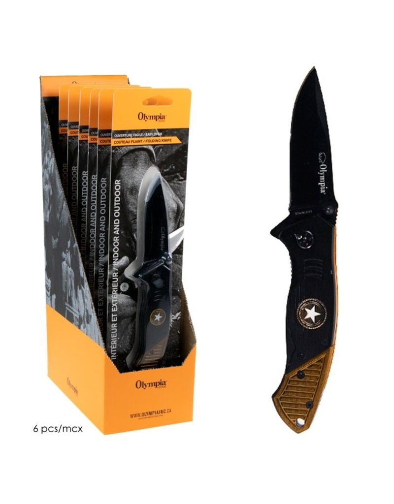 OLYMPIA Olympia Star U.S Knife Black