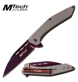 M-TECH Couteau de poche Pliant Lame Mauve M-Tech