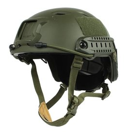 KILLHOUSE Casque Tactical Airsoft Paintball Fast Base Jump Ajustable Olive