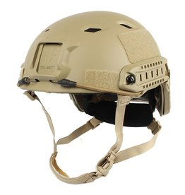 KILLHOUSE Tactical Airsoft Paintball Fast Base Jump Adjustable Helmet Tan