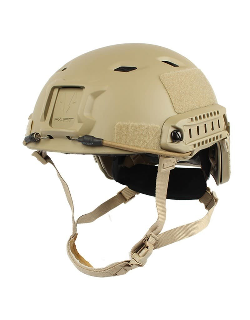 KILLHOUSE Casque Tactical Airsoft Paintball Fast Base Jump Ajustable Tan
