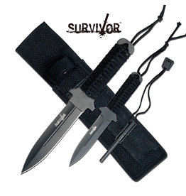 SURVIVOR Survivor Fire Starter Fixed Knife Combo